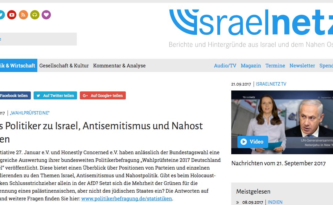 Berichterstattung Israelnetz